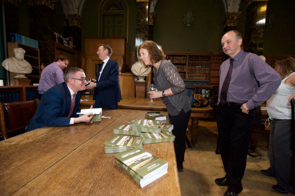 A Practical Guide to Crofting Law - Brian Inkster signs books at the Royal Faculty of Procurators in Glasgow