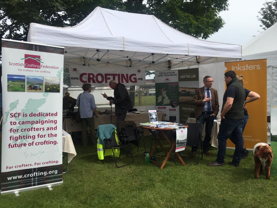 Brian Inkster at Crofting Law and Scottish Crofting Federation Stand - Royal Highland Show 2019